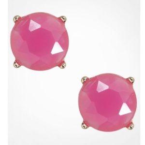🆕Express Pink Faux Gemstone Diamond Stud Earrings